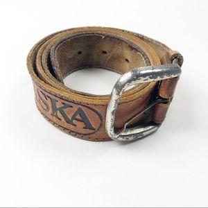 🌿 Vintage Leather Alaska Belt